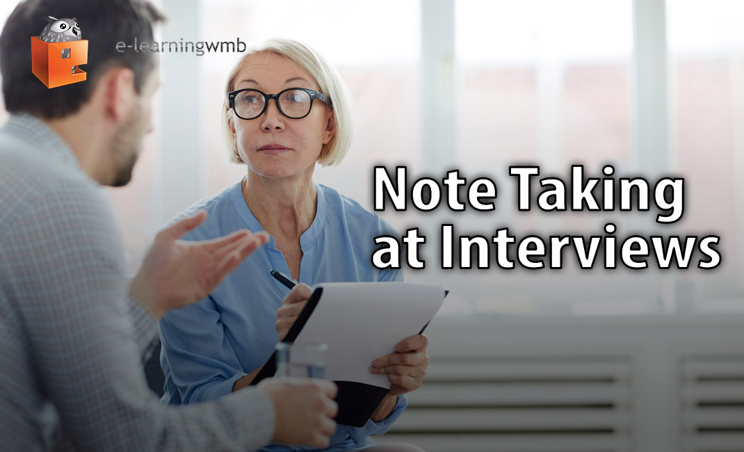Note Taking at Interviews e-learning course
